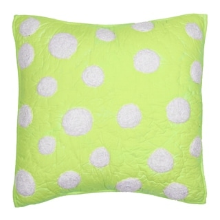 Lime Green Dot Decorative Pillow