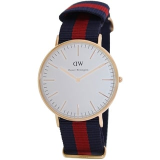 Daniel Wellington Men's 'Oxford' Two-tone Cloth Quartz Watch