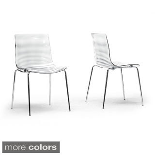Baxton Studio Marisse Plastic Modern Dining Chairs (Set of 2)