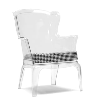 Baxton Studio Tasha Clear Polycarbonate Modern Accent Chair