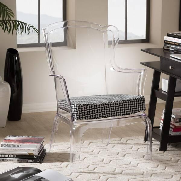 Prime Shop Baxton Studio Tasha Clear Polycarbonate Modern Accent Creativecarmelina Interior Chair Design Creativecarmelinacom