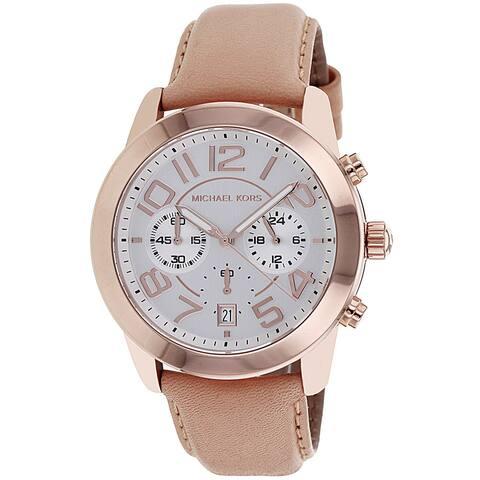 Michael Kors Women's MK2283 'Mercer' Chronograph Brown Leather Watch