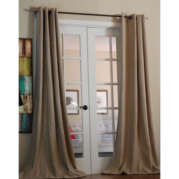 lambrequin mae linen grommet 96 inch curtain panels free
