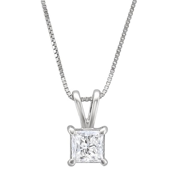 5a58bb9ffa73f Shop Montebello 14k White Gold 1/2ct TDW Princess-cut Diamond ...