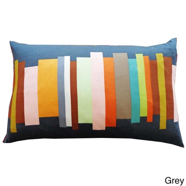 Handmade Multicolored Brushes Throw Pillow