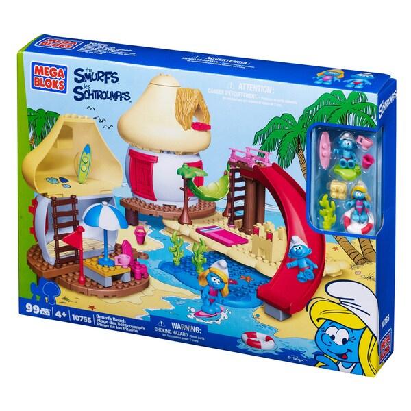 Mega Bloks Smurf Beach Playset