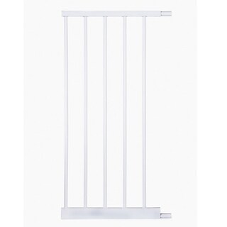 North States White Auto-Close Metal Gate 5-inch Bar Extension