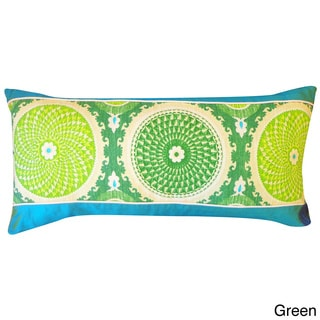 12 x 16inch green or rust coil throw pillow