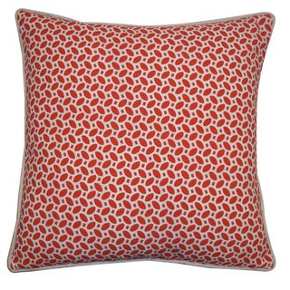 20 x 20-inch Red Pik Pak Throw Pillow