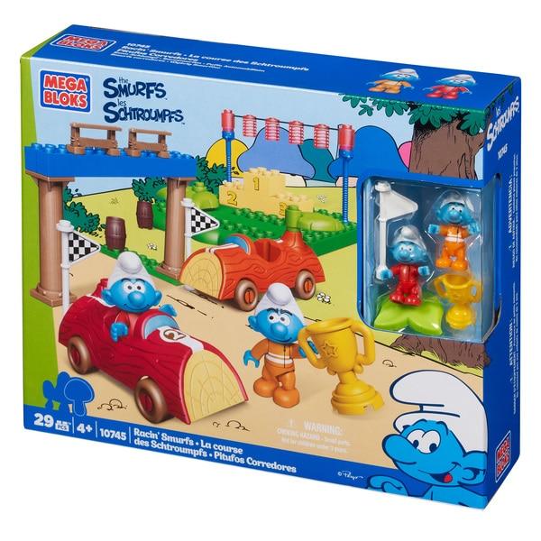 Mega Bloks Smurfs Racin' Smurfs Playset