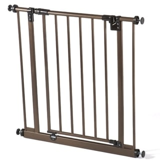 North States Deluxe Metal Bronze Easy Close Gate - n/a