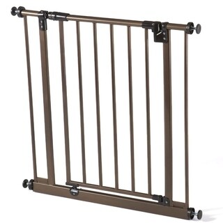 North States Deluxe Metal Bronze Easy Close Gate