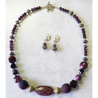 Handcrafted 'Rubicon' Necklace and Earring Set