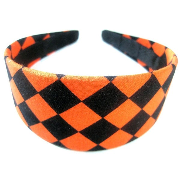 Crawford Corner Shop Halloween Black and Orange Diamond Headband