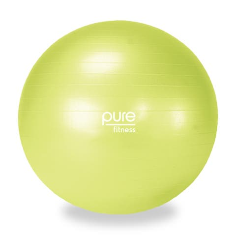 Pure Fitness 55cm Professional Anti-burst Exercise Stability Ball - Yellow