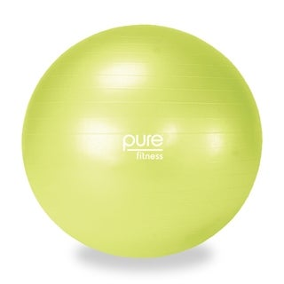 Pure Fitness 55cm Professional Exercise Stability Ball - Green