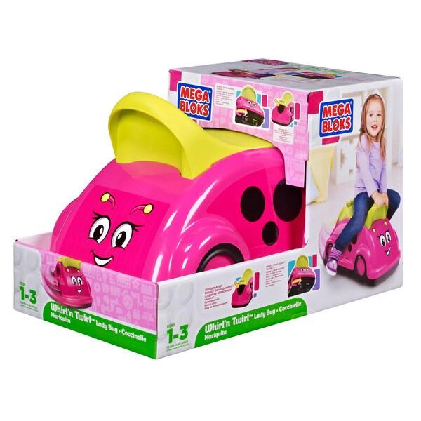 Mega Bloks Lady Bug Whirl'n Twirl Ride-on