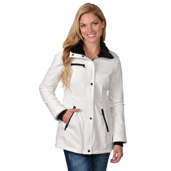 Jessica Simpson Women&39s Faux Fur Trim Pocket Detail Coat - Free