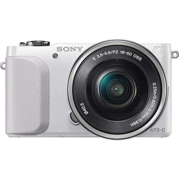 Sony alpha NEX-3N 16.1MP White Mirrorless Digital Camera with 16-50mm Lens