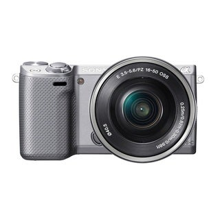 Sony Alpha NEX-5R Mirrorless Camera Silver Body with 16-50mm Lens Kit