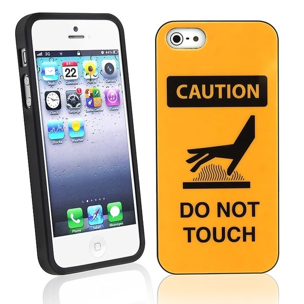 BasAcc Caution Do Not Touch TPU Rubber Case for Apple® iPhone 5/ 5S