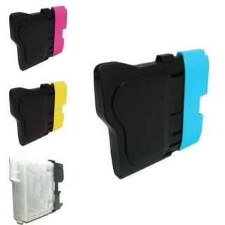 INSTEN Magenta/ Yellow/ Cyan/ Black 4-Ink Cartridge for Brother LC-65