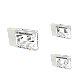INSTEN Epson T543400 Cyan/ Magenta/ Yellow 3-Ink Cartridge Set (Remanufactured)