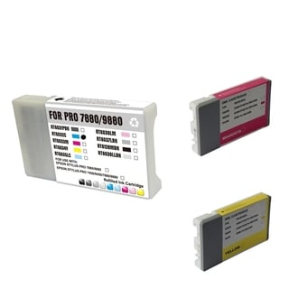 INSTEN Epson T6032C/ 033M/ 034Y Cyan/ Magenta/ Yellow 3-Ink Cartridge Set (Remanufactured)