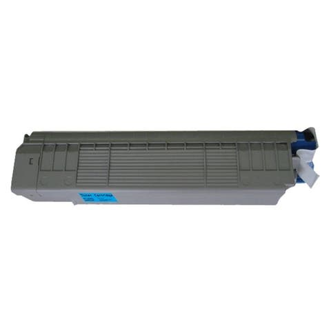 Refilled Insten 43487735 Cyan Non-OEM Toner Cartridge Replacement for Okidata 8800