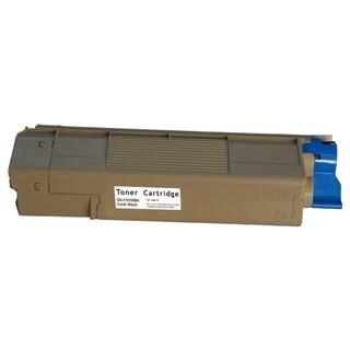 Insten Premium Black Color Toner Cartridge 43324420 for OKI C6100/ C6100n