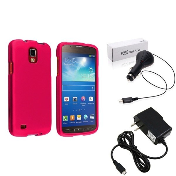 INSTEN Case Cover/ Travel/ Car Charger for Samsung Galaxy S4 Active i9295