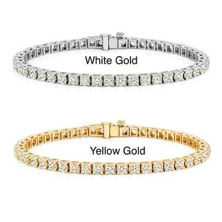 Auriya 14k Gold 2 to 12ct TDW Prong-set Diamond Tennis Bracelet (J-K, I2-I3)