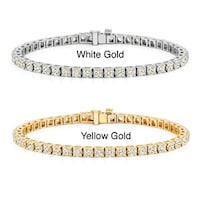 Auriya 14k Gold 2ct Tdw Round Diamond Tennis Bracelet
