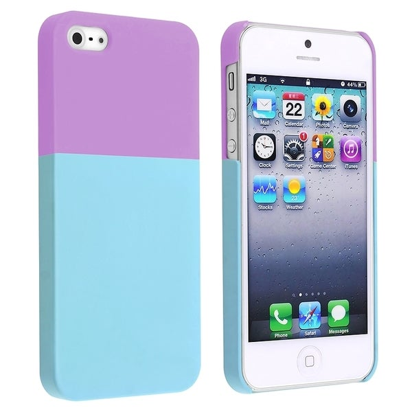 BasAcc Purple/ Blue Protector Case for Apple® iPhone 5/ 5S