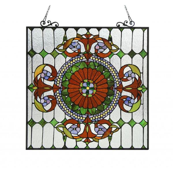Chloe tiffany style victorian design window panel free shipping today 15752020 - Victorian design style style ...
