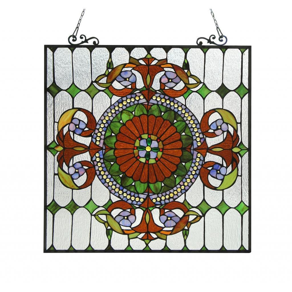Chloe Tiffany Style Victorian Design Window Panel, Multi ...