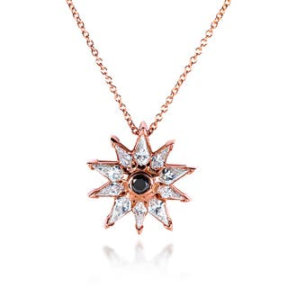 Annello by Kobelli 10k Rose Gold 3/4ct TDW Black and White Diamond Necklace|https://ak1.ostkcdn.com/images/products/8459788/P15752060.jpg?impolicy=medium