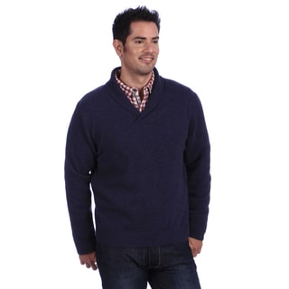 Luigi Baldo Italian Made Men's Cashmere Shawl Collar Sweater