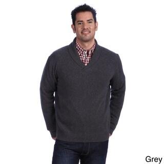 Luigi Baldo Italian Made Men's Cashmere Shawl Collar Sweater