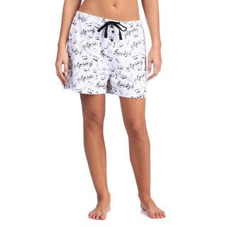 Leisureland Women's Music Notes Cotton Flannel Boxer Shorts (4 options available)