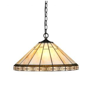 Chloe Tiffany Style Mission Design 2-light Bronze Pendant