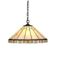 Tiffany style roman hanging lamp free shipping today overstock chloe tiffany style mission design 2 light bronze pendant workwithnaturefo