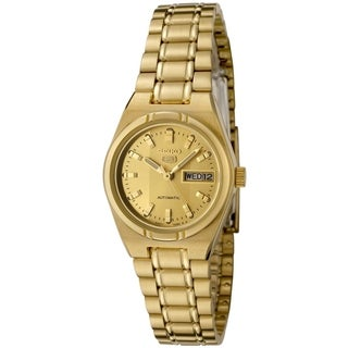 Seiko Women's 5 Automatic Goldtone Stainless Steel Watch