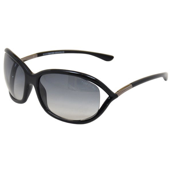 357940956a1 Shop Tom Ford Women s Jennifer TF8 01B  Black Grey Sunglasses - Free ...