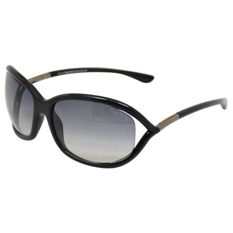 Tom Ford Women's Jennifer TF8 01B' Black/Grey Sunglasses
