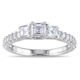 Miadora Signature Collection 14k White Gold 1ct TDW Asscher Cut Diamond Ring