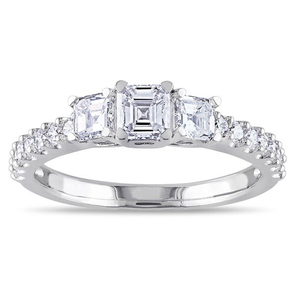 Miadora Signature Collection 14k White Gold 1ct TDW Asscher Cut Diamond Ring (G-H, VS1-VS2)
