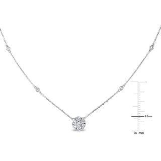 Miadora 14k White Gold 3/4ct TDW Diamond Necklace
