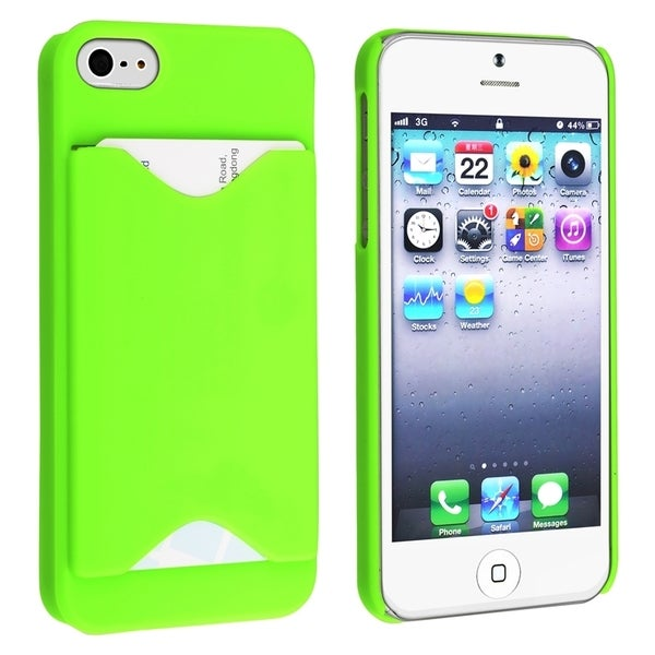 BasAcc Green Case with Card Holder for Apple® iPhone 5/ 5S