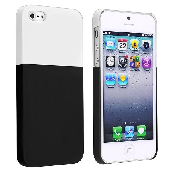 BasAcc White/ Black Protector Case for Apple® iPhone 5/ 5S